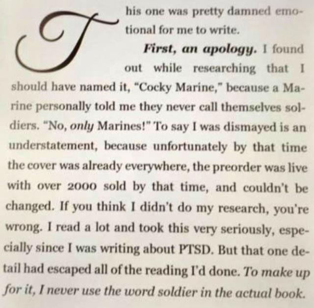Faleena book apology